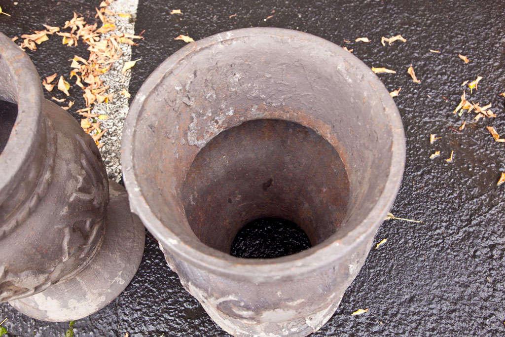 Pair of Cast Iron Urns 7
