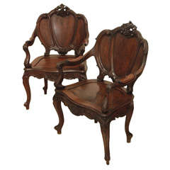Only One Continental Rosewood Armchair