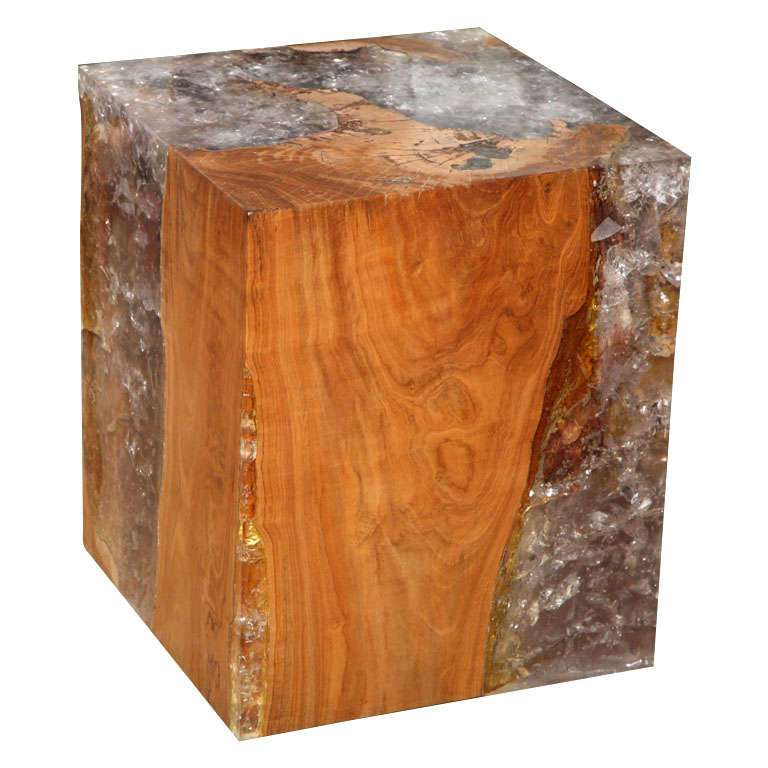 Wood and Resin Cube Table at 1stdibs : x from www.1stdibs.com size 768 x 768 jpeg 61kB