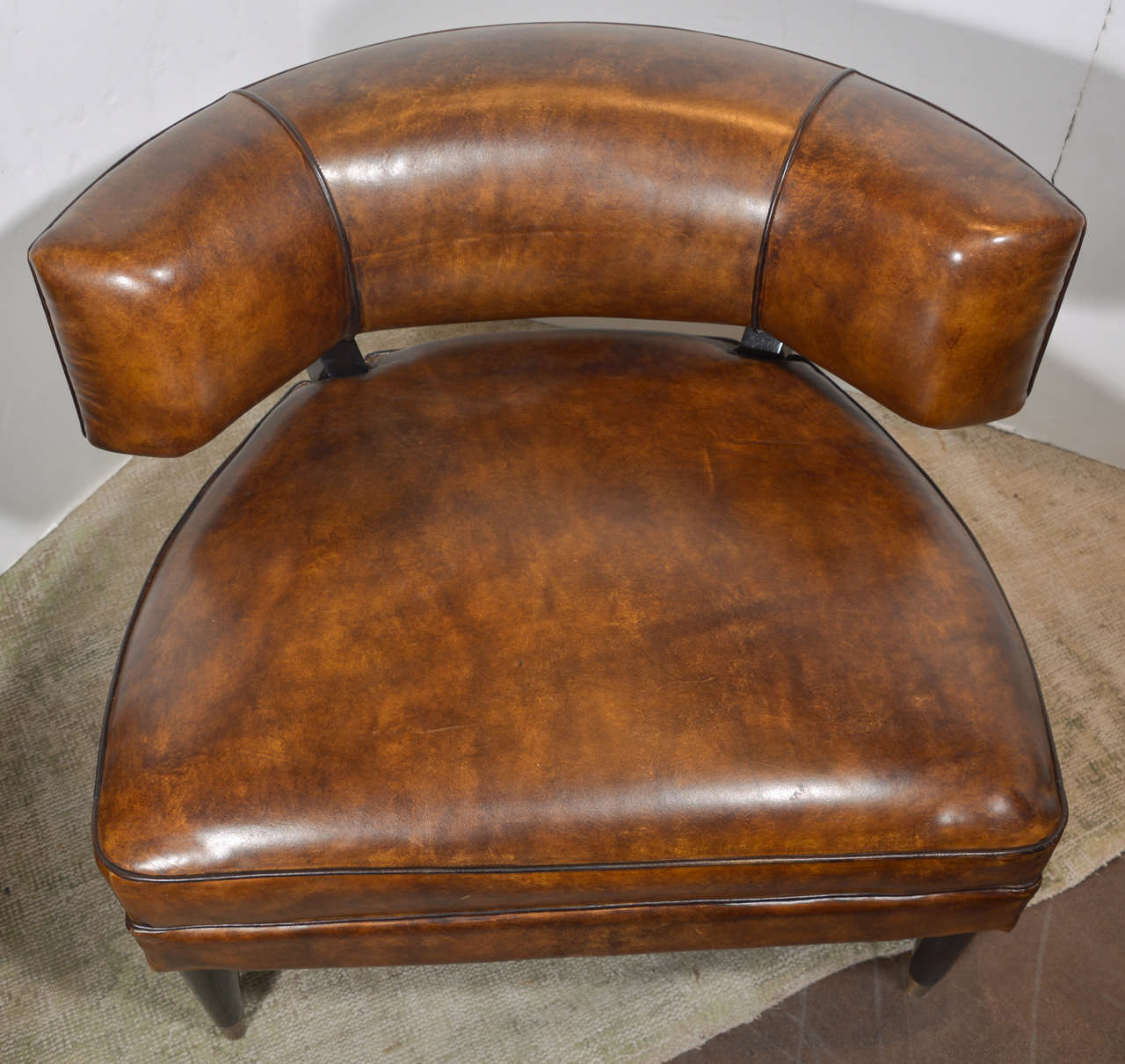 Laurent Glazed Leather Chair At 1stdibs