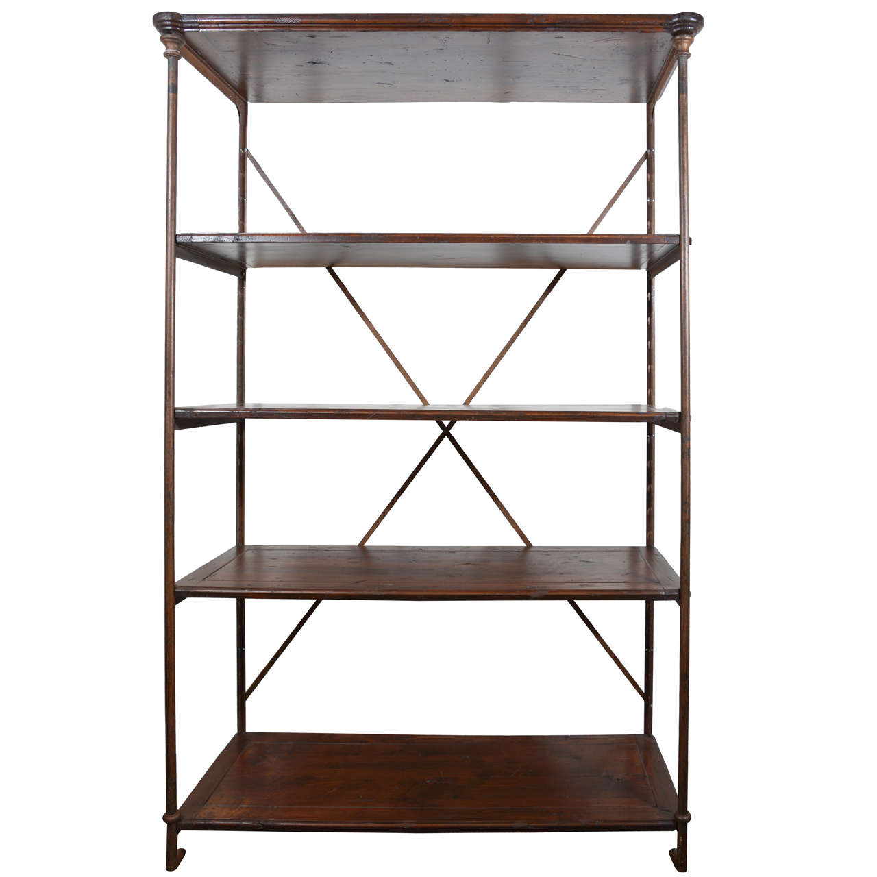antique french iron etagere at 1stdibs. Black Bedroom Furniture Sets. Home Design Ideas