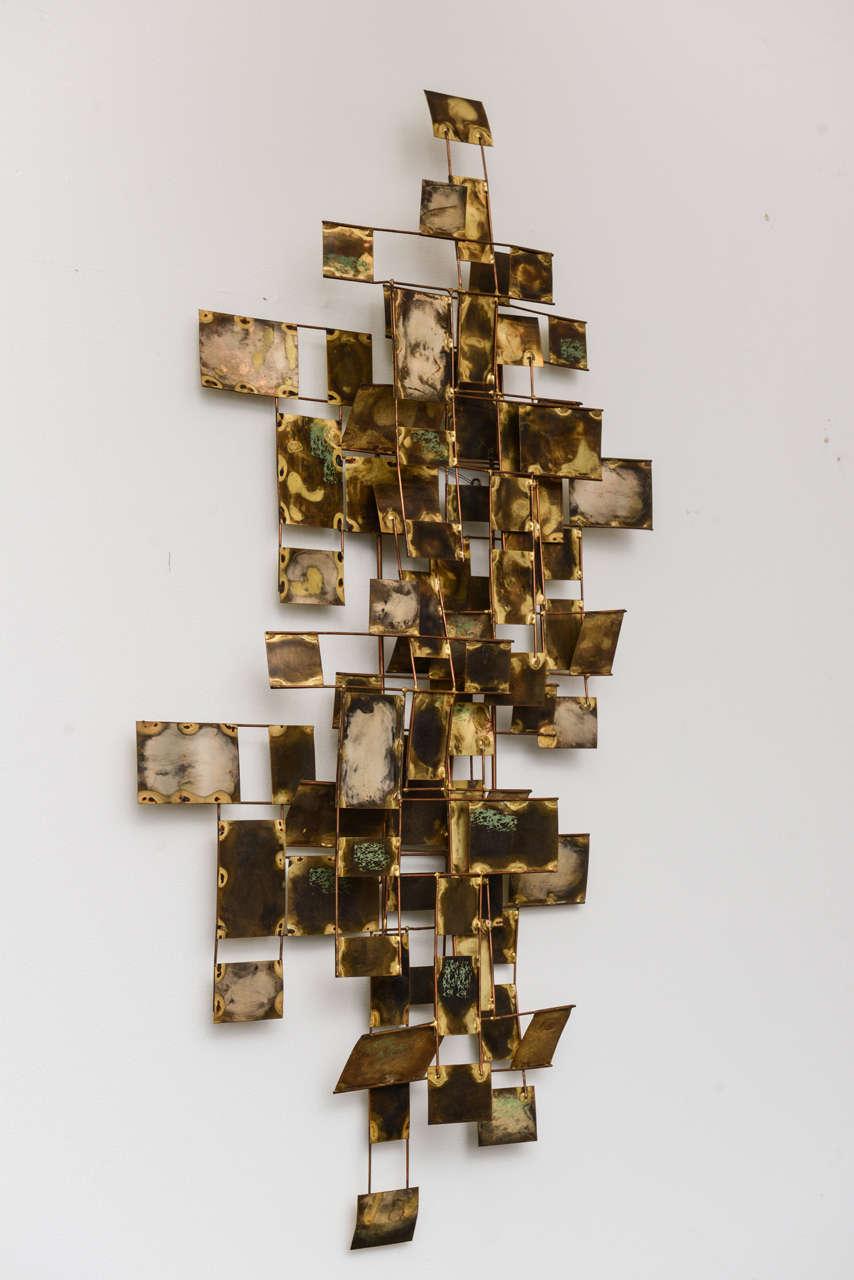 An American Modern Brass Wall Sculpture Curtis Jere At