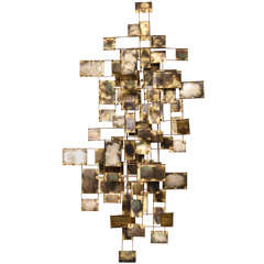 An American Modern Brass Wall Sculpture, Curtis Jere