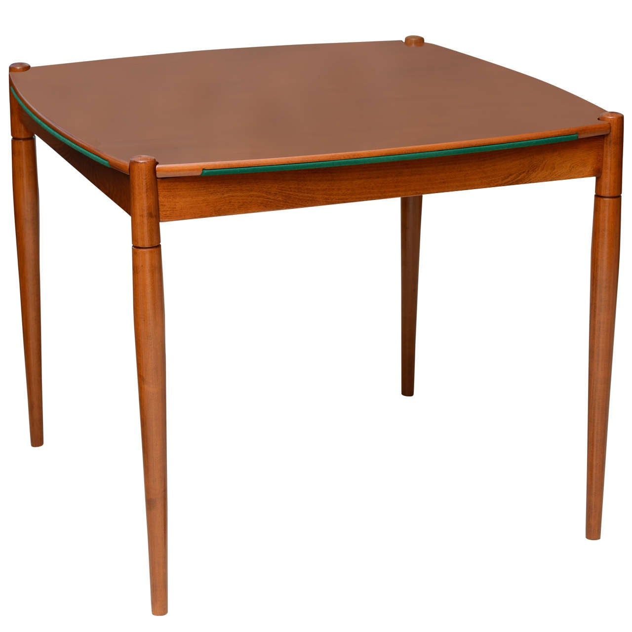An italian modern walnut game table by gio ponti for for Contemporary game table and chairs