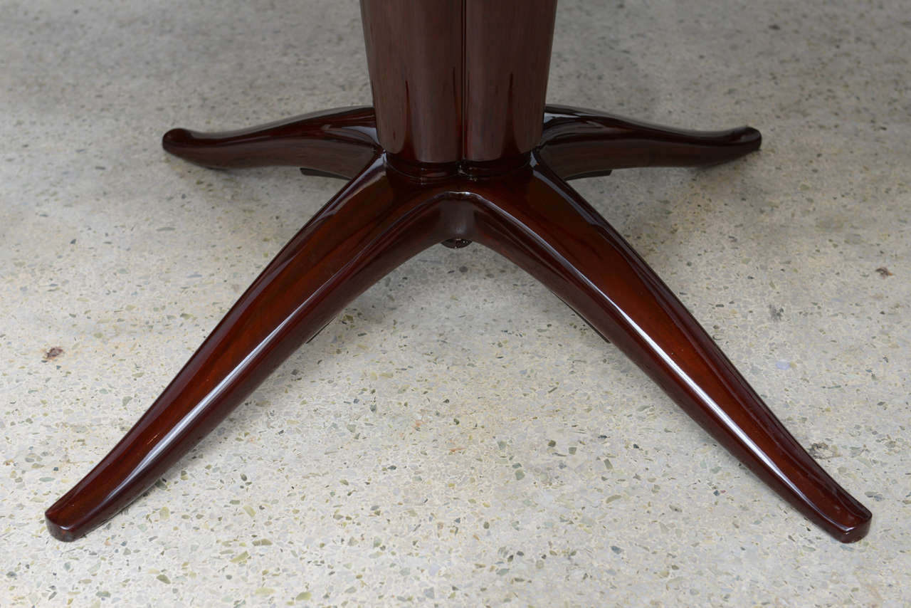 Italian Modern Mahogany and Onyx Top Center/Dining Table, Paolo Buffa 4