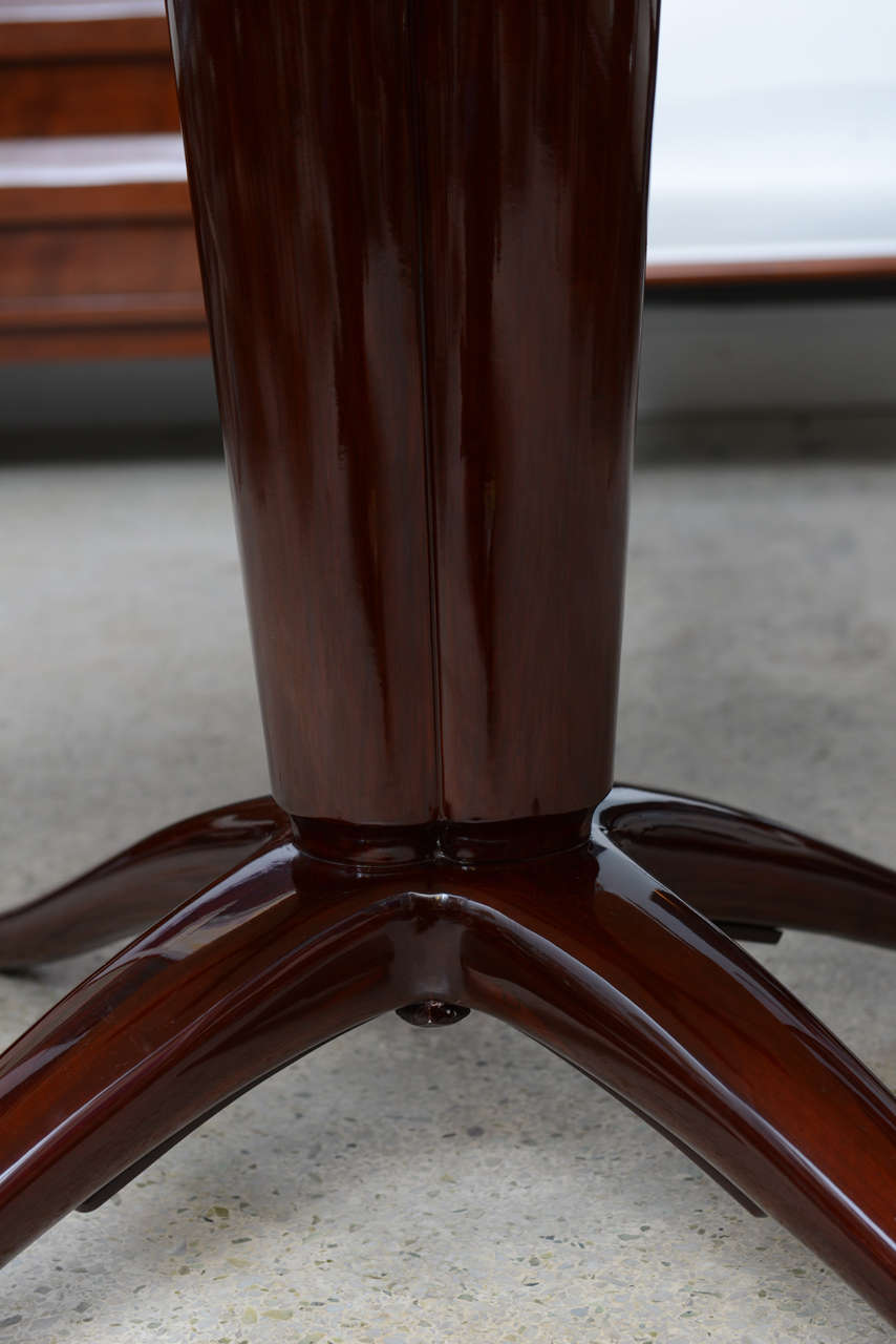 Italian Modern Mahogany and Onyx Top Center/Dining Table, Paolo Buffa 6