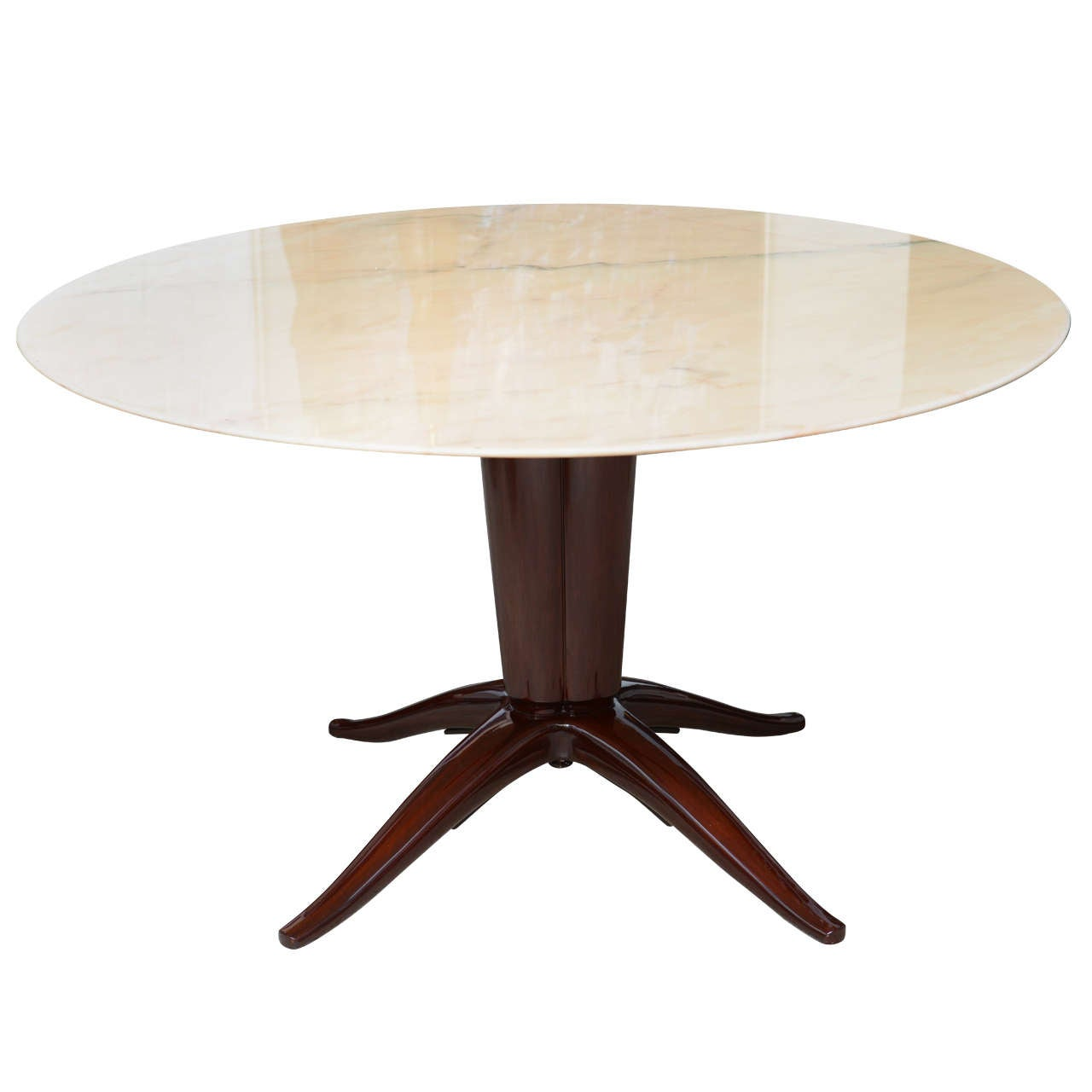 Italian modern mahogany and onyx top center dining table for Italian dining table