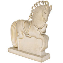 Italian Ceramic Horse by Colette Guedin for Primavera