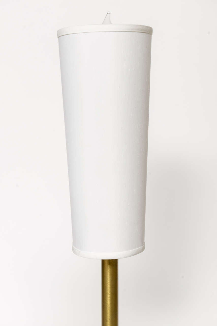 Italian Modern Brass and Glass Table Lamp in the Style of