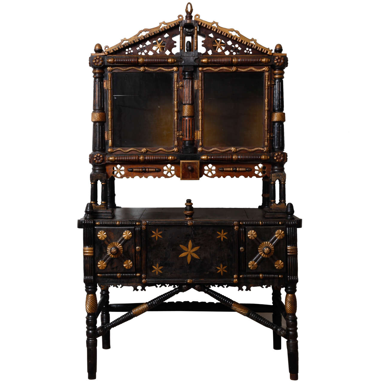 Swiss Vaud Canton Folk Art Cabinet Circa 1910 At 1stdibs