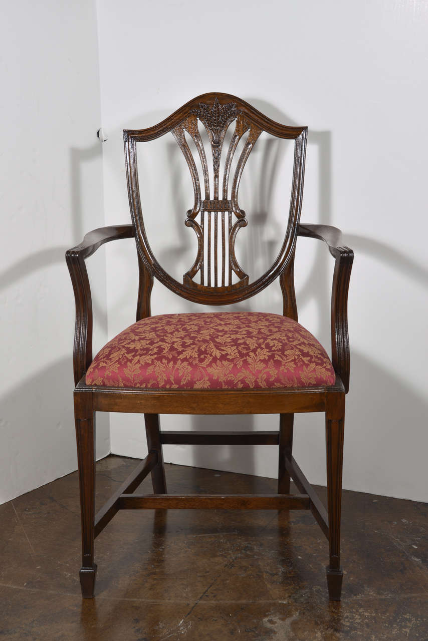 19th C English Sheraton Prince Of Wales Dining Chairs For