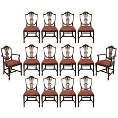 19th c English Sheraton Prince of Wales dining chairs