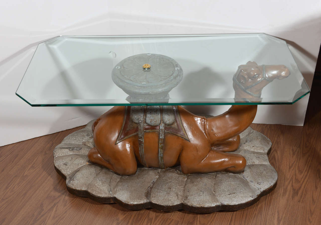 Indian Style Coffee Table 19th C Anglo Indian Paper Mache And Brass Banded Coffee Table For