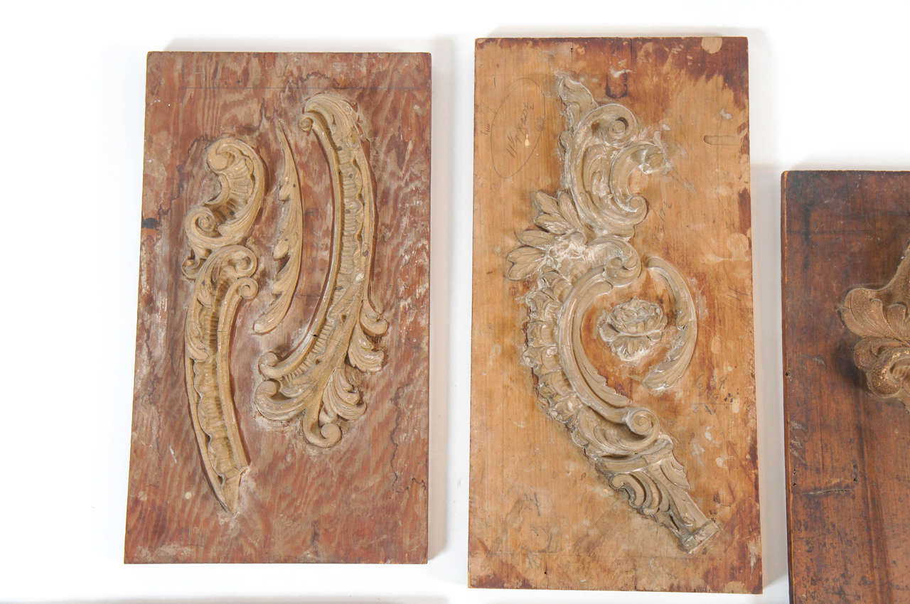 Collection of neoclassical wood plaster moulds circa 1910 at 1stdibs - Italian garden design ideas to make exquisite roman era garden ...