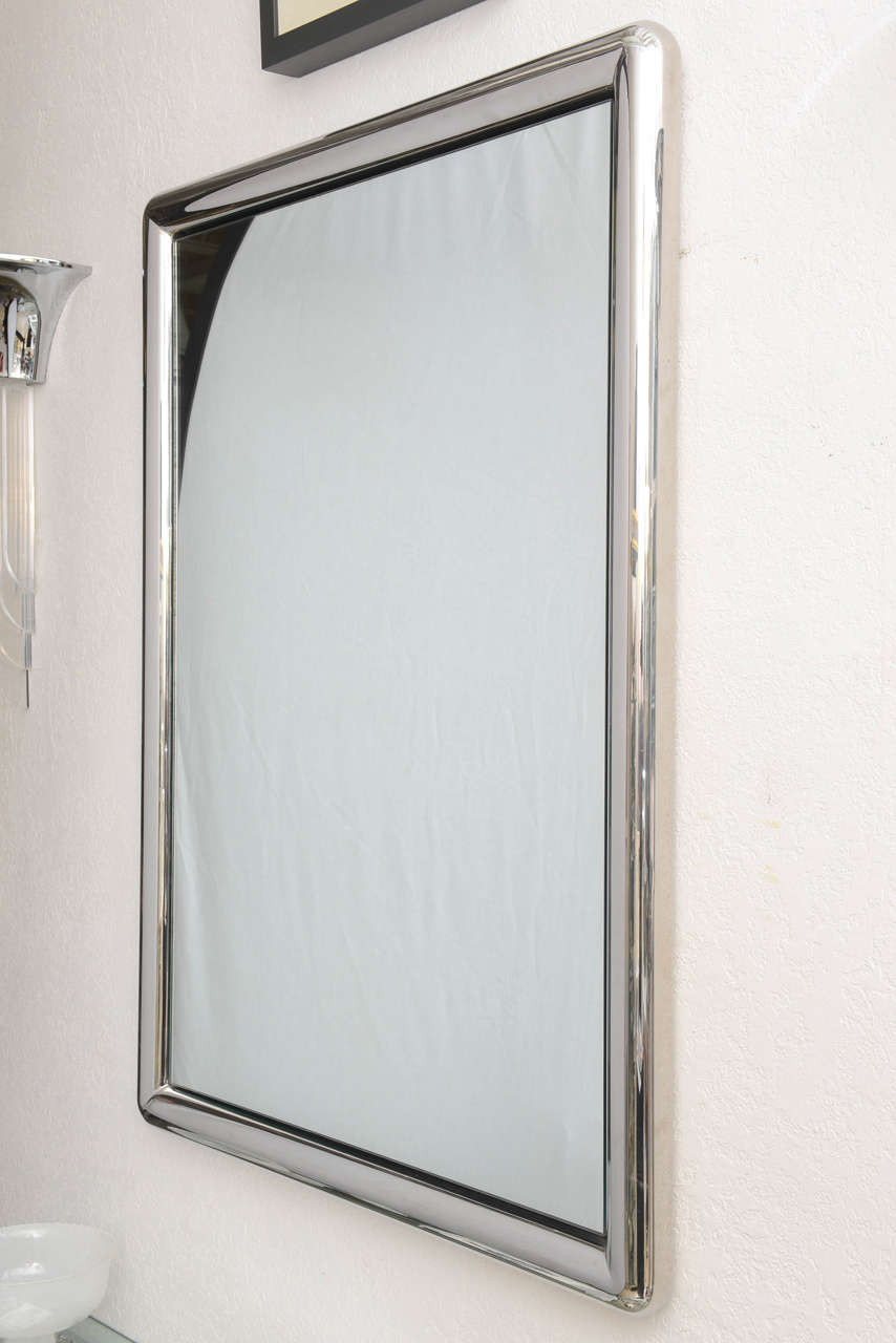 chrome framed wall mirror 2