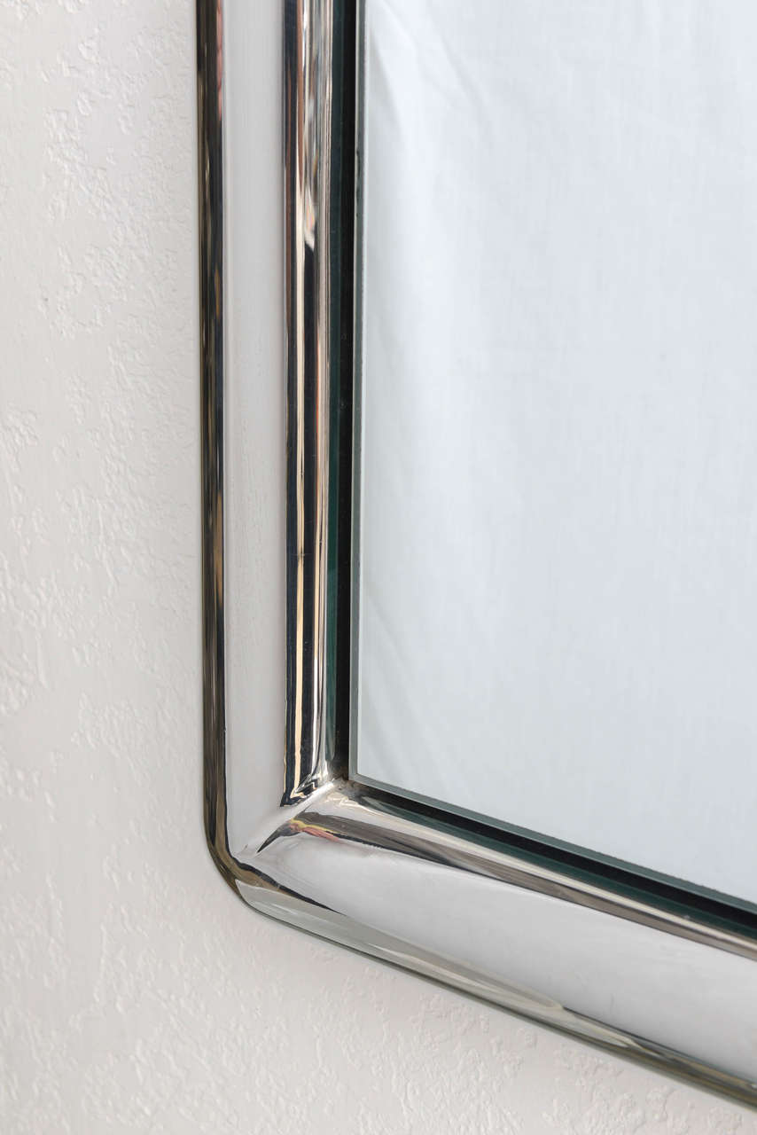 chrome framed wall mirror 3