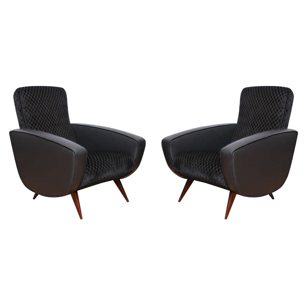 Pair of fabulous mid century modern armchairs for sale at for Mid century modern armchairs