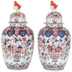 Two, 1900s, Lidded, Imari Jars