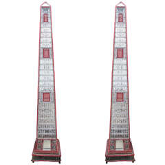 Large, Beaded, Italian Obelisks