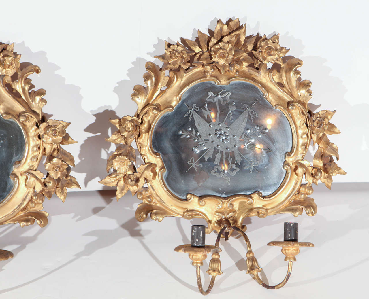 19th Century, French Wall Sconces In Good Condition For Sale In Newport Beach, CA
