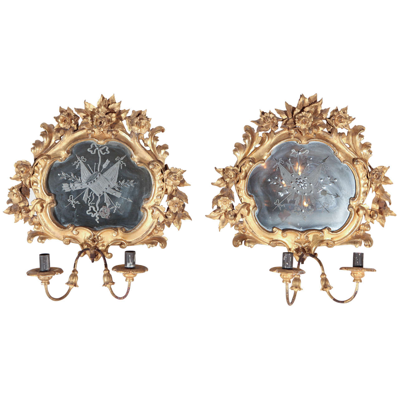 19th Century, French Wall Sconces For Sale