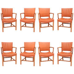 Set of Eight Kaare Klint Armchairs