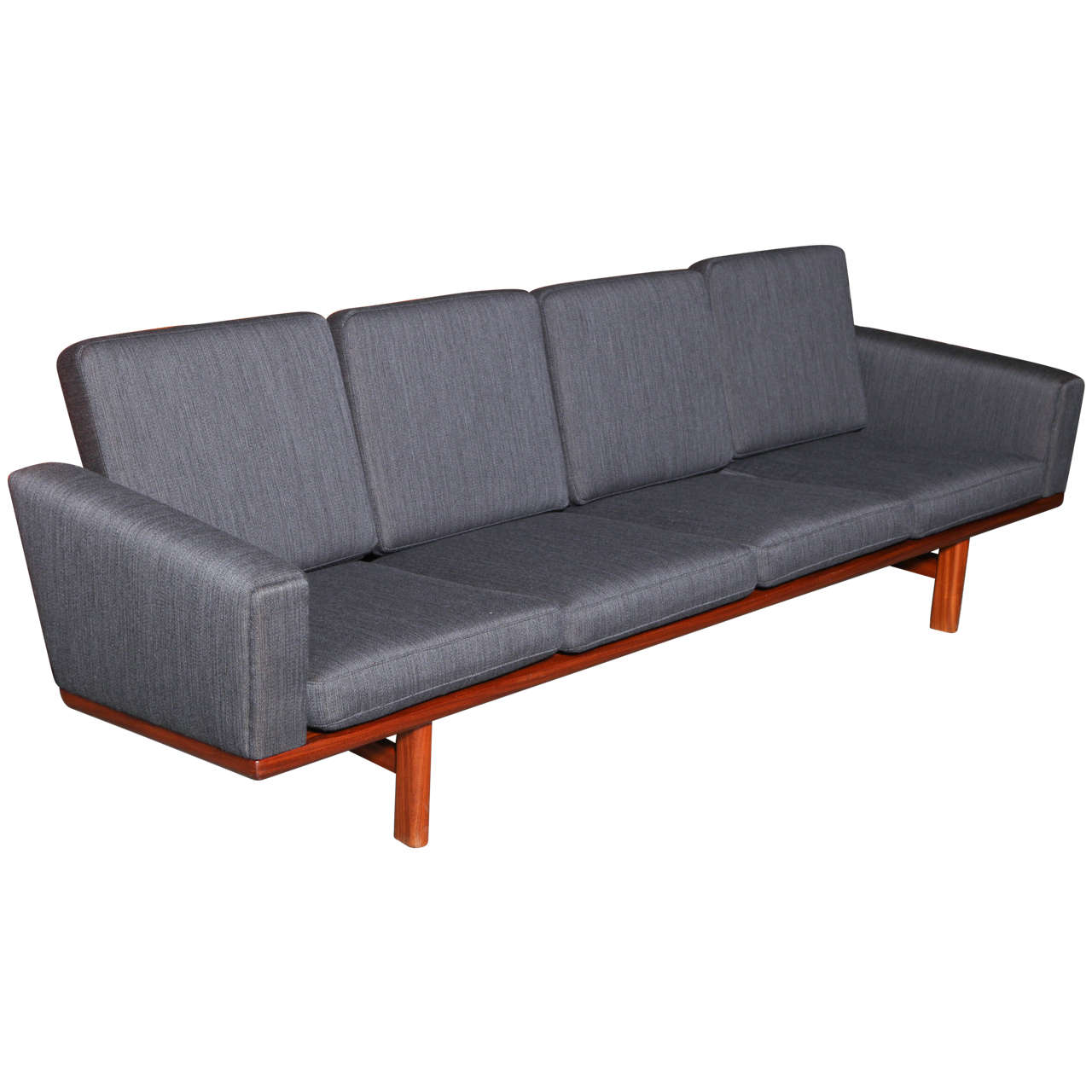 hans wegner ge 236 4 sofa at 1stdibs. Black Bedroom Furniture Sets. Home Design Ideas