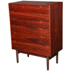 Highboy Danish Rosewood Dresser by Svend Lankilde, 1960s