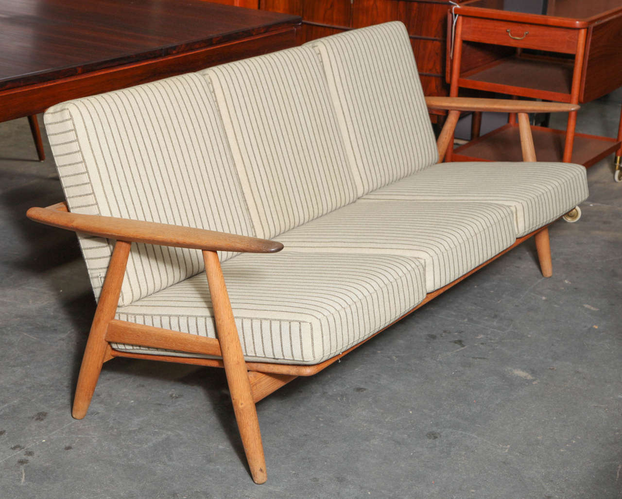 Hans Wegner GE 240 Cigar Arm Sofa By GETAMA 2