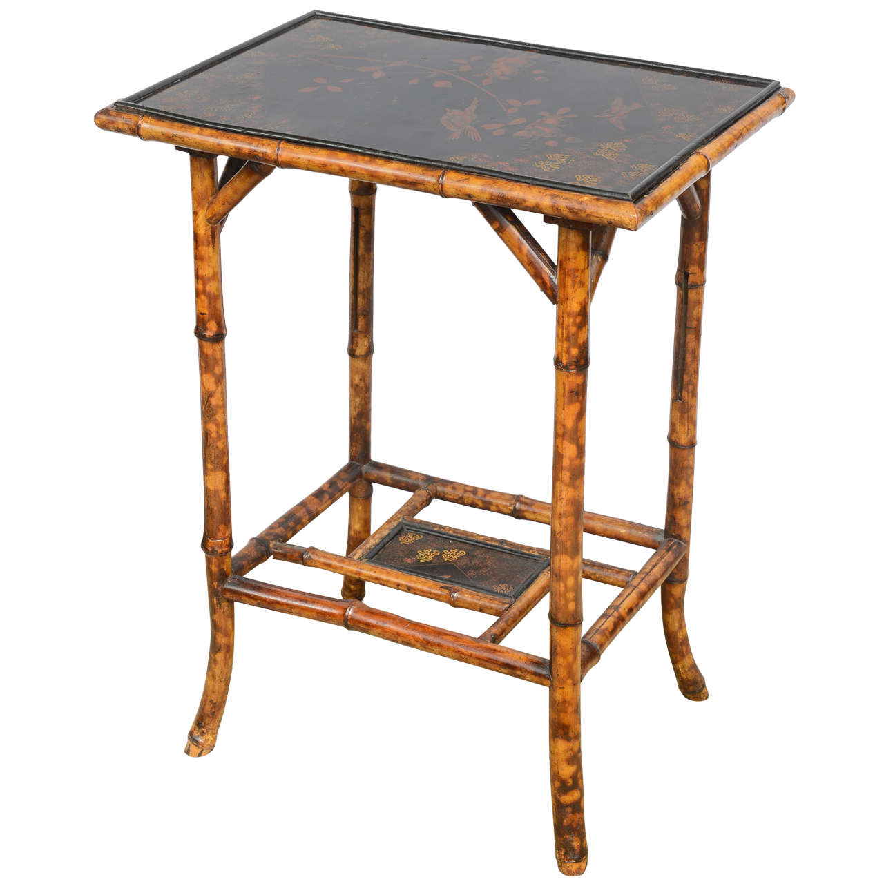 19th Century English Bamboo Side Table At 1stdibs