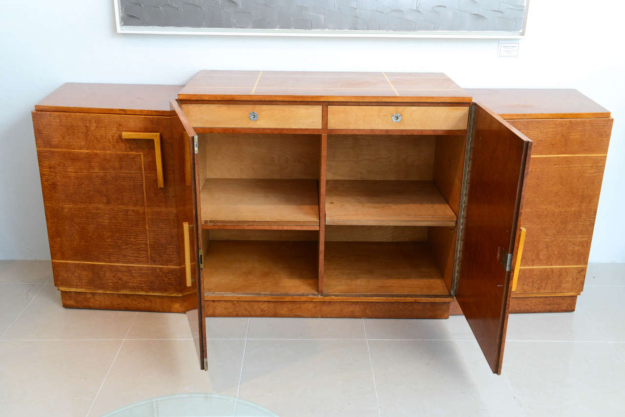late art deco birds eye maple and maple inlaid credenza eli jacques kahn 8 art deco office credenza
