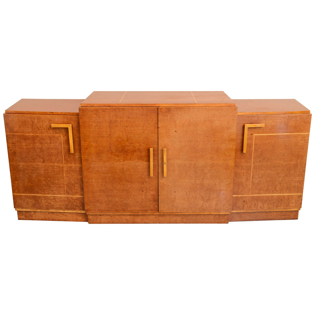 late art deco birds eye maple and maple inlaid credenza eli jacques kahn 1 art deco office credenza