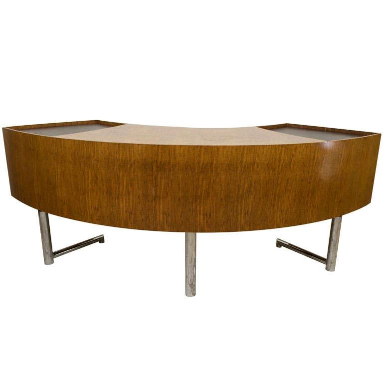 Leif Jacobsen Curved Wood Desk 1