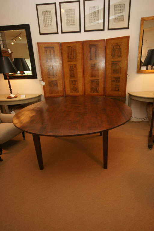 "72"" Round English Farmhouse Dining Table at 1stdibs"