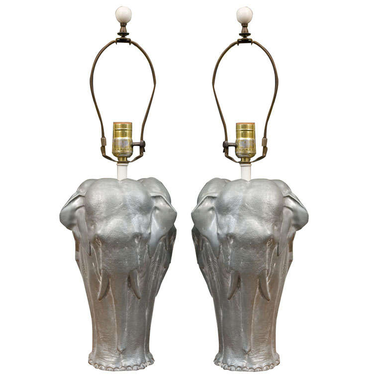 Mid century elephant base table lamps at 1stdibs for Table lamp elephant base