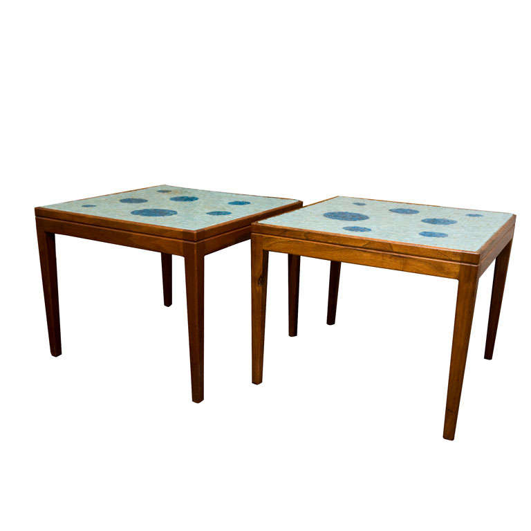 PAIR OF MID-CENTURY MEXICAN COCKTAIL TABLES At 1stdibs