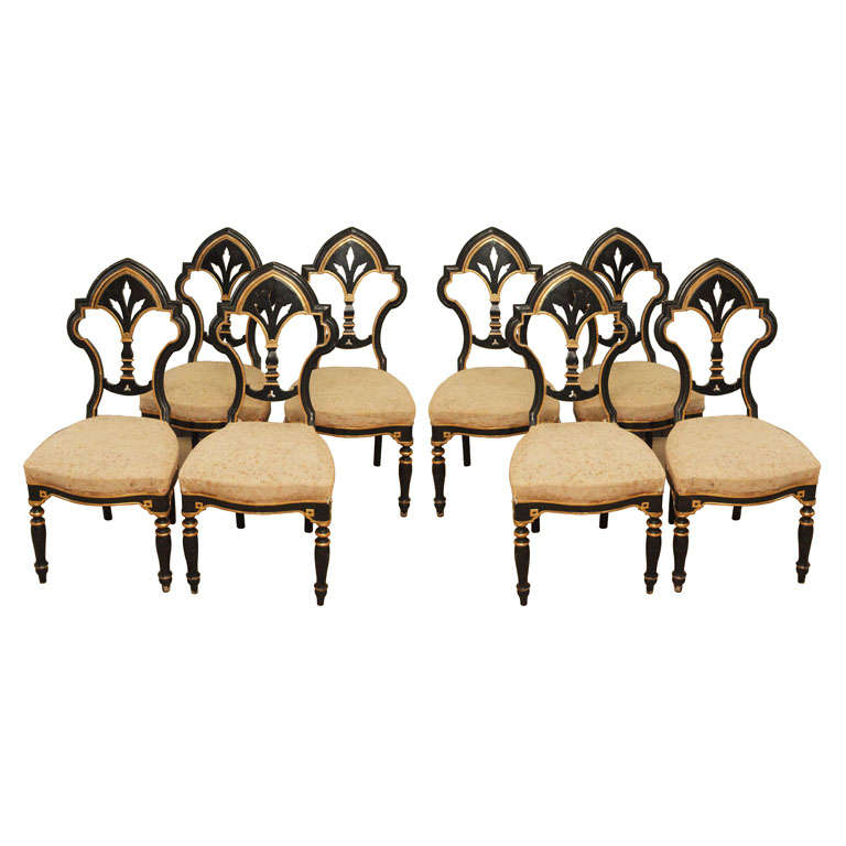 Only One Pair Italian Dining Side Chairs At 1stdibs