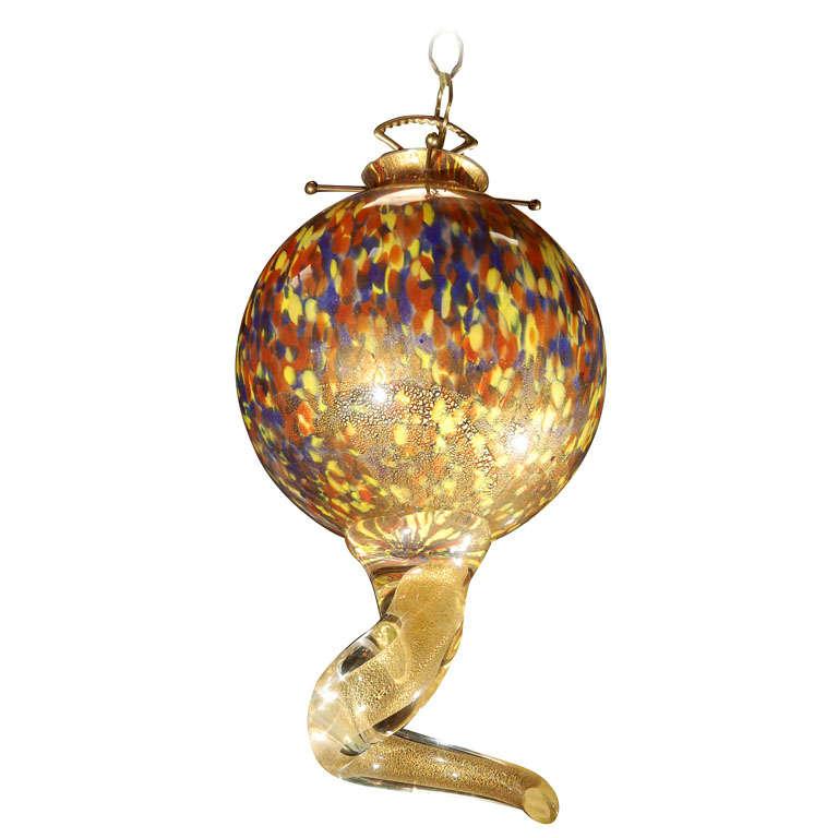 unique murano glass multi colored pendant at 1stdibs