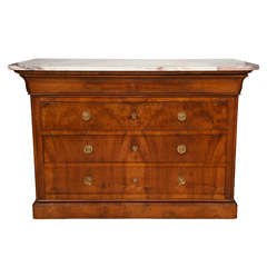 Charles X Black Walnut Commode