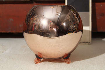 Large Footed Mercury Glass Rose Bowl image 2