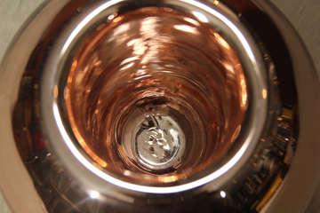 Large Footed Mercury Glass Rose Bowl image 4