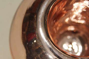 Large Footed Mercury Glass Rose Bowl image 5
