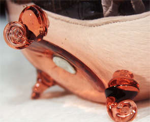 Large Footed Mercury Glass Rose Bowl image 7