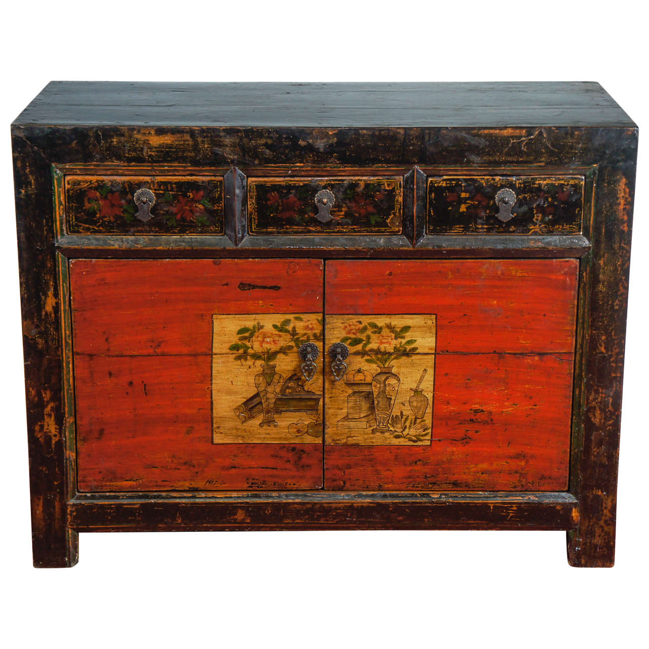 Chinese lacquered cabinet at 1stdibs for Lacquered furniture