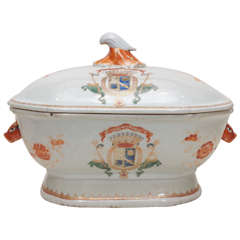 Early 19th Century Chinese Export Armorial Tureen with Cover