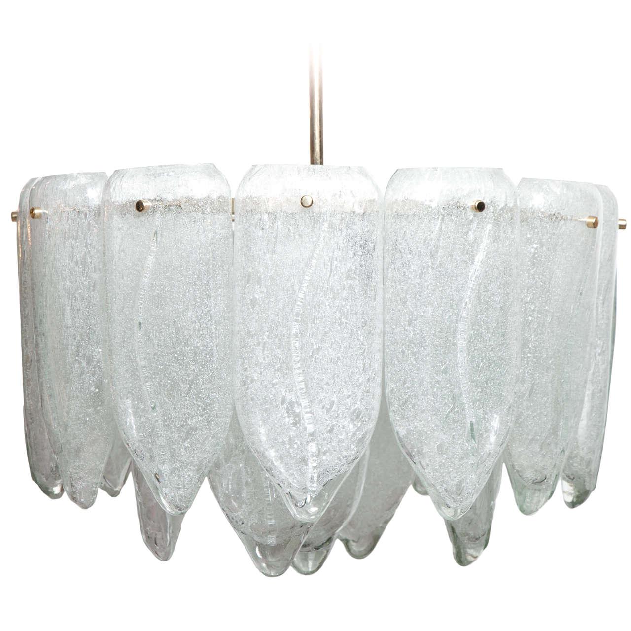 Murano Glass Petal Chandelier 1