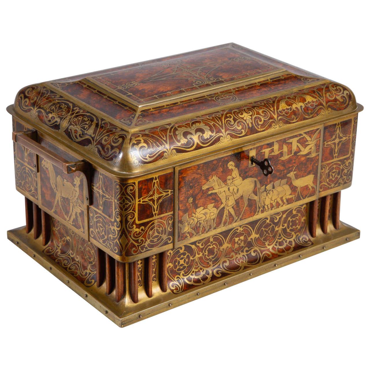 art nouveau table casket by erhard and s hne at 1stdibs. Black Bedroom Furniture Sets. Home Design Ideas