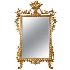 Monumental French Gilt Wood Mirror