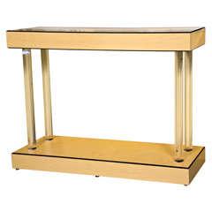 Art Deco Style Console Table Lucite Pedestals