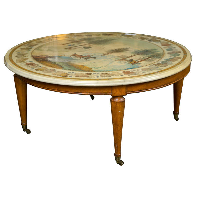 Italian Scagliola Marble Top Coffee Table At 1stdibs